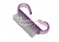 Mini portalanító kefe erős szőrrel lila