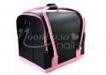 {$metatitle_ackio} Fekete-pink Műkörmös táska pánttal   műkörmös alapanyagok, kellékek szállításához